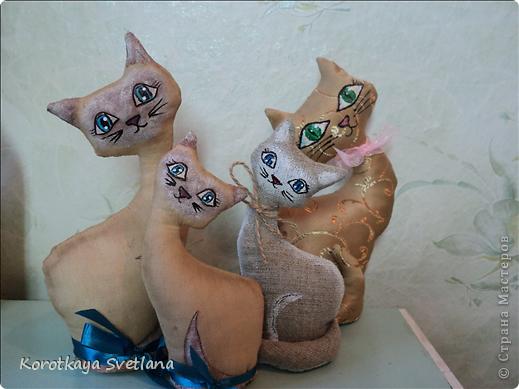 Очень понравилось шить игрушки. Это мама с котенком чайно-кофейные. Рисовала акриловыми красками. фото 6