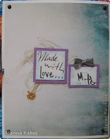 Вот такая открытка родилась на день рождение моей самой дорогой и любимой подружки)) Фон - распечатка, а так вроде и ничего особенного)) фото 2