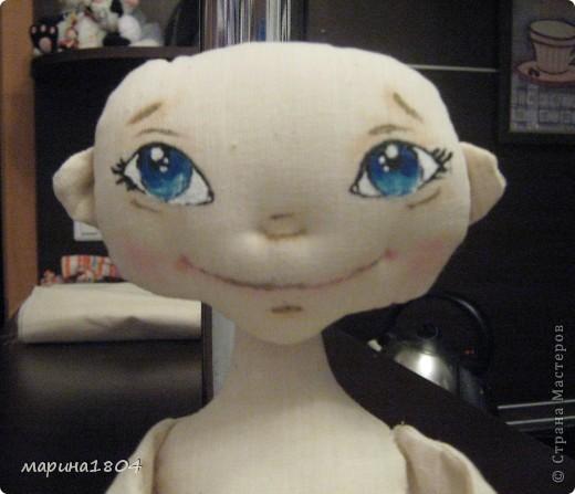 """Вот и я заболела куклами... Хочу поделиться своим восторгом от мастер-класса Виктории http://stranamasterov.ru/node/307319. Наткнулась случайно, была ошарашена эмоциями, которые возникли от работ Виктории, подумала, что это очень круто и не смогу я....Но потом решила """"была-не была"""", и ВОТ! Мою принцессу зовут Мирцелла. Делала я ее специально для своей дочки Жени. фото 2"""