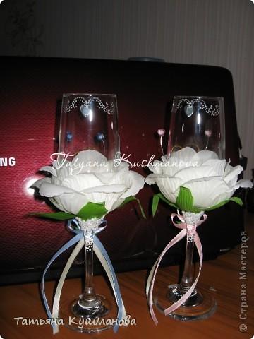 Мои бокальчики на начальной стадии их  усовершенствования))) фото 4