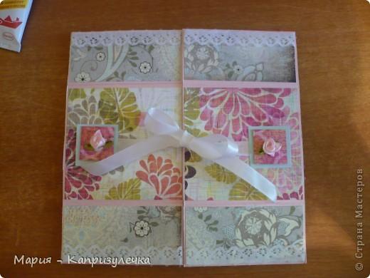 """Всем здравствуйте! Наконец-то я завершила открытку на день рождения своей подруги. Это так называемая """"Бесконечная открытка"""", ее МК - http://www.youtube.com/watch?playnext=1&v=G9Wq2EbpSe8&list=TLMjyvI4_feL8. Как всегда простите за фото. фото 1"""