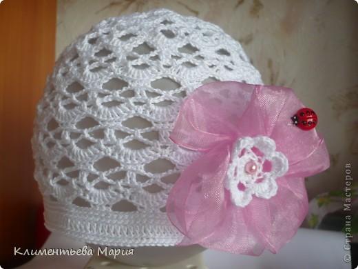 Беретик с цветком канзаши фото 14