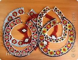 Добрый день всем жителям Страны Мастеров!Хочу Вам представить новые украшения из бисера в украинском стиле. Надеюсь  Вам понравится . фото 1
