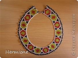 Добрый день всем жителям Страны Мастеров!Хочу Вам представить новые украшения из бисера в украинском стиле. Надеюсь  Вам понравится . фото 3
