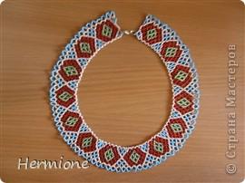 Добрый день всем жителям Страны Мастеров!Хочу Вам представить новые украшения из бисера в украинском стиле. Надеюсь  Вам понравится . фото 4