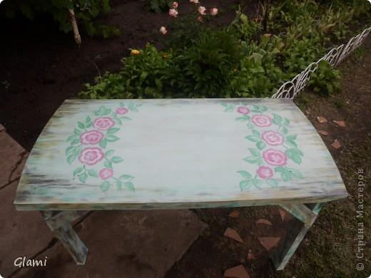 Дачный столик фото 8