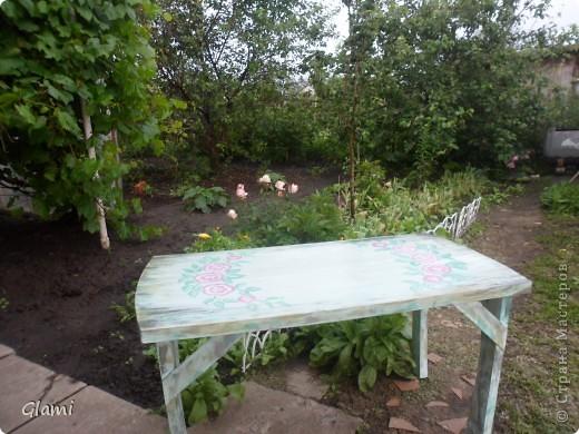 Дачный столик фото 9