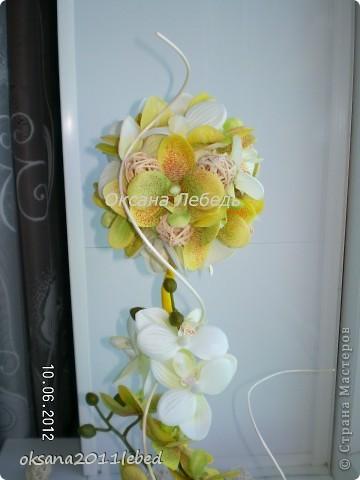 Привет, всем всем!!!!  Ходила вокруг уже купленных орхидей две недели, и так и эдак их крутила, ну ника не идет работа и все!!!! Потом решилась на эксперемент, с моими любимыми ротангами, вот что получилось... фото 2