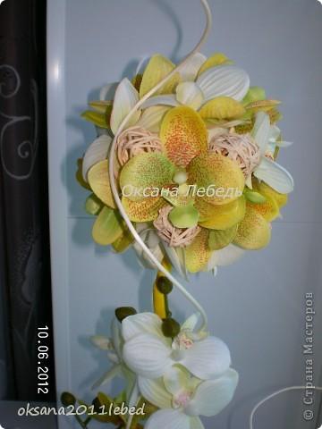Привет, всем всем!!!!  Ходила вокруг уже купленных орхидей две недели, и так и эдак их крутила, ну ника не идет работа и все!!!! Потом решилась на эксперемент, с моими любимыми ротангами, вот что получилось... фото 3