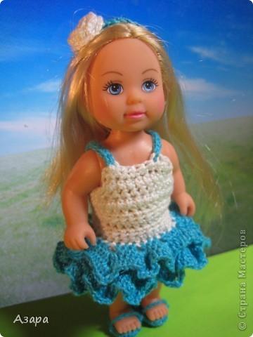 Рост кукол 12 см)  Платье для маленькой леди) фото 3