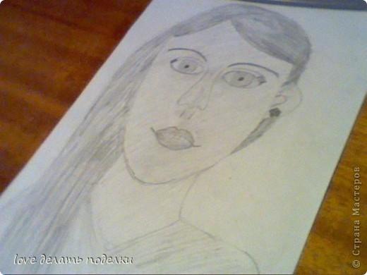 Здравствуйте, дорогие мастера и мастерицы! Когда то давно ну в мае рисовала портретик. Хотела что бы получилась я, а вышла какая-то женщина. Вдруг получились вы!