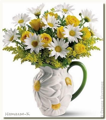 Приглашаю всех, (кому интересно) в мою ,,рабочую кухню,, Предлагаю вам ,,рецепт,,  ромашковой вазочки. фото 21