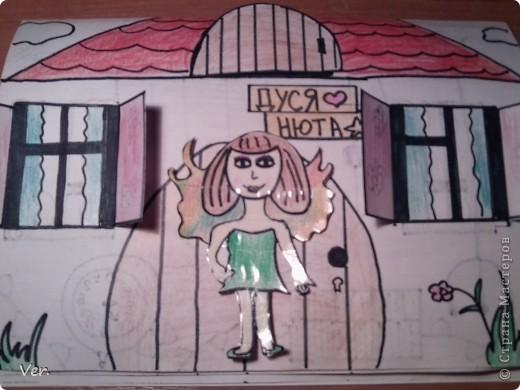 """Всем привет!:) Племяшка часто сидит со мной в Стране Мастеров,и вот в очередной раз,когда мы  сидели с ней в СМ,наткнулись на  бумажный домик Тимофеевны.Алина сразу загорелась:""""Хочу!"""".И вот родился этот домик для фей:) Итак...знакомьтесь:это Нюта.Она живет вместе со своей старшей сестрой Дусей. фото 1"""