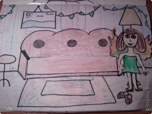 """Всем привет!:) Племяшка часто сидит со мной в Стране Мастеров,и вот в очередной раз,когда мы  сидели с ней в СМ,наткнулись на  бумажный домик Тимофеевны.Алина сразу загорелась:""""Хочу!"""".И вот родился этот домик для фей:) Итак...знакомьтесь:это Нюта.Она живет вместе со своей старшей сестрой Дусей. фото 5"""