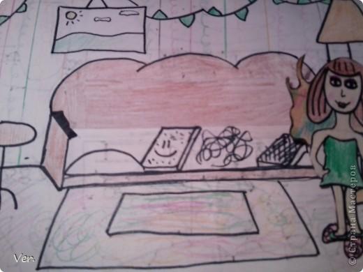 """Всем привет!:) Племяшка часто сидит со мной в Стране Мастеров,и вот в очередной раз,когда мы  сидели с ней в СМ,наткнулись на  бумажный домик Тимофеевны.Алина сразу загорелась:""""Хочу!"""".И вот родился этот домик для фей:) Итак...знакомьтесь:это Нюта.Она живет вместе со своей старшей сестрой Дусей. фото 6"""