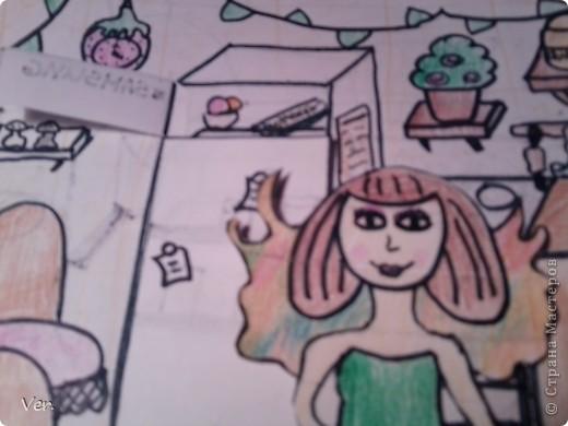 """Всем привет!:) Племяшка часто сидит со мной в Стране Мастеров,и вот в очередной раз,когда мы  сидели с ней в СМ,наткнулись на  бумажный домик Тимофеевны.Алина сразу загорелась:""""Хочу!"""".И вот родился этот домик для фей:) Итак...знакомьтесь:это Нюта.Она живет вместе со своей старшей сестрой Дусей. фото 8"""