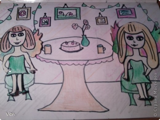"""Всем привет!:) Племяшка часто сидит со мной в Стране Мастеров,и вот в очередной раз,когда мы  сидели с ней в СМ,наткнулись на  бумажный домик Тимофеевны.Алина сразу загорелась:""""Хочу!"""".И вот родился этот домик для фей:) Итак...знакомьтесь:это Нюта.Она живет вместе со своей старшей сестрой Дусей. фото 11"""