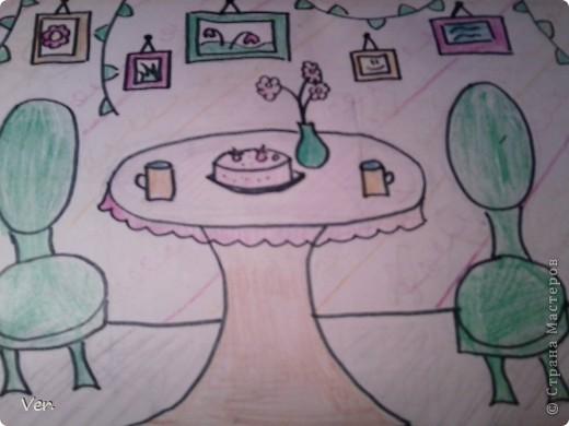 """Всем привет!:) Племяшка часто сидит со мной в Стране Мастеров,и вот в очередной раз,когда мы  сидели с ней в СМ,наткнулись на  бумажный домик Тимофеевны.Алина сразу загорелась:""""Хочу!"""".И вот родился этот домик для фей:) Итак...знакомьтесь:это Нюта.Она живет вместе со своей старшей сестрой Дусей. фото 10"""