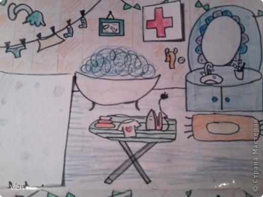 """Всем привет!:) Племяшка часто сидит со мной в Стране Мастеров,и вот в очередной раз,когда мы  сидели с ней в СМ,наткнулись на  бумажный домик Тимофеевны.Алина сразу загорелась:""""Хочу!"""".И вот родился этот домик для фей:) Итак...знакомьтесь:это Нюта.Она живет вместе со своей старшей сестрой Дусей. фото 12"""