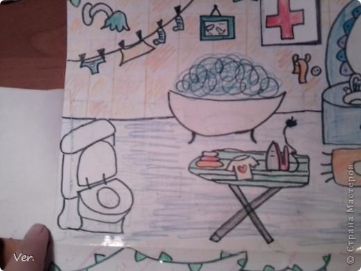 """Всем привет!:) Племяшка часто сидит со мной в Стране Мастеров,и вот в очередной раз,когда мы  сидели с ней в СМ,наткнулись на  бумажный домик Тимофеевны.Алина сразу загорелась:""""Хочу!"""".И вот родился этот домик для фей:) Итак...знакомьтесь:это Нюта.Она живет вместе со своей старшей сестрой Дусей. фото 13"""