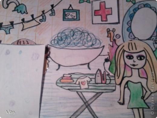 """Всем привет!:) Племяшка часто сидит со мной в Стране Мастеров,и вот в очередной раз,когда мы  сидели с ней в СМ,наткнулись на  бумажный домик Тимофеевны.Алина сразу загорелась:""""Хочу!"""".И вот родился этот домик для фей:) Итак...знакомьтесь:это Нюта.Она живет вместе со своей старшей сестрой Дусей. фото 14"""
