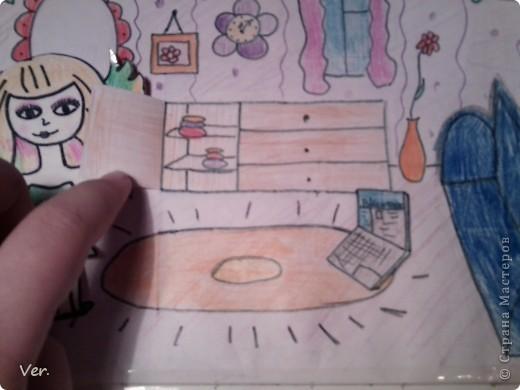 """Всем привет!:) Племяшка часто сидит со мной в Стране Мастеров,и вот в очередной раз,когда мы  сидели с ней в СМ,наткнулись на  бумажный домик Тимофеевны.Алина сразу загорелась:""""Хочу!"""".И вот родился этот домик для фей:) Итак...знакомьтесь:это Нюта.Она живет вместе со своей старшей сестрой Дусей. фото 17"""