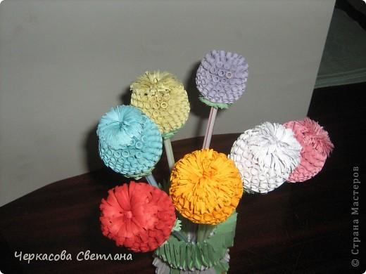 цветочки в технике квиллинг и ваза -модульное оригами, по мастер -классу страны мастеров фото 2
