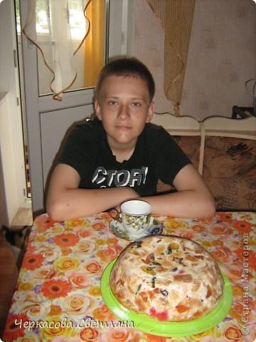 Вот такой тортик мы делали с сыном на День Защиты Детей! фото 3