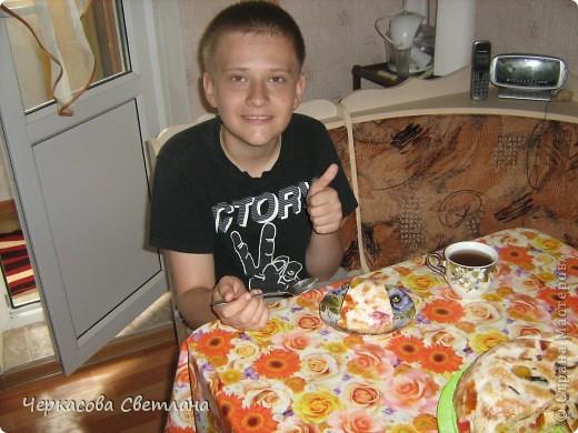 Вот такой тортик мы делали с сыном на День Защиты Детей! фото 4