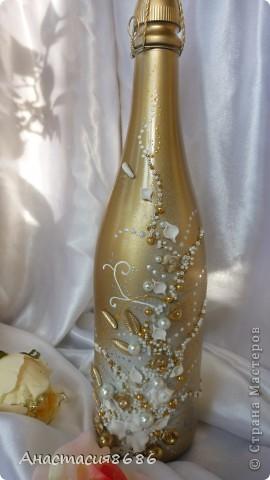 В последнее время что то много заказывают бело золотые бутылки. Прямо золотая лихорадка......;)) фото 1