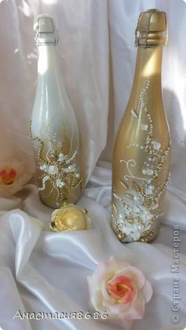 В последнее время что то много заказывают бело золотые бутылки. Прямо золотая лихорадка......;)) фото 2