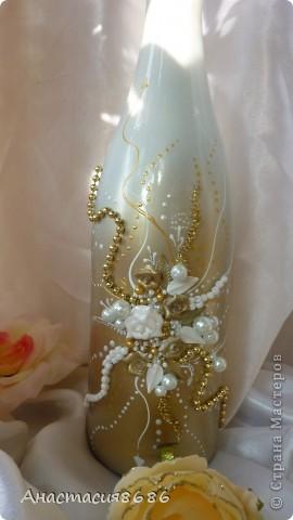 В последнее время что то много заказывают бело золотые бутылки. Прямо золотая лихорадка......;)) фото 4