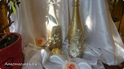 В последнее время что то много заказывают бело золотые бутылки. Прямо золотая лихорадка......;)) фото 7