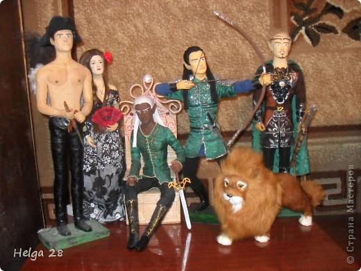 Мои куклы из скульптурного пластилина и папье-маше. Больше всего люблю делать эльфов. Делаются долго (пока все слои просохнут), но это того стоит. фото 4