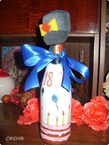 Моему двоюродному брату исполнилось 18!и что ему дарить я не знала) По этому решила  придумать что то необычное) В  я не разбираюсь,по этому выбрала то что приглянулось по цене и по форме бутылки. фото 18