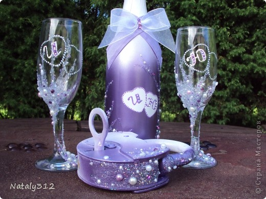 Этот набор для моей сестры. Свадьбы, как таковой, не было, но все равно захотелось создать для новобрачных праздничное настроение. фото 1