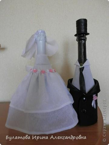 Здравствуйте жители страны! Представляю вашему вниманию мои бутылочки, которые мне заказали сделать на свадьбу. Заказчики остались довольны. фото 1