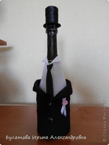 Здравствуйте жители страны! Представляю вашему вниманию мои бутылочки, которые мне заказали сделать на свадьбу. Заказчики остались довольны. фото 3