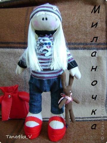 Вот такая миленькая девочка Миланочка! с шоколадным зайкой :)  фото 1