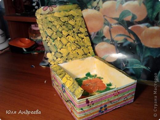 Вот такую красоту  сделала из коробки для чайных пакетиков фото 1