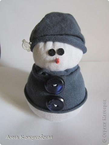Мой первый снеговик. Использовала мастер-клас http://stranamasterov.ru/node/260406?tid=451%2C1054 фото 1