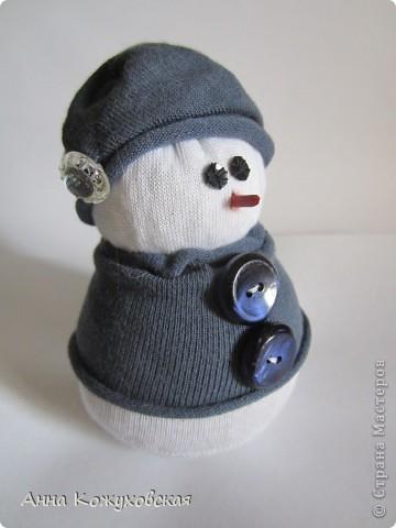 Мой первый снеговик. Использовала мастер-клас http://stranamasterov.ru/node/260406?tid=451%2C1054 фото 2