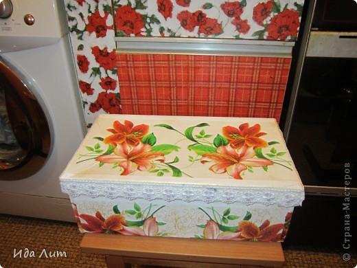 Маленький презент для бабушки - коробка для хранения лекарств. фото 1