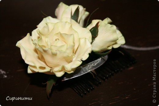 Роза на гребне в подарок фото 1