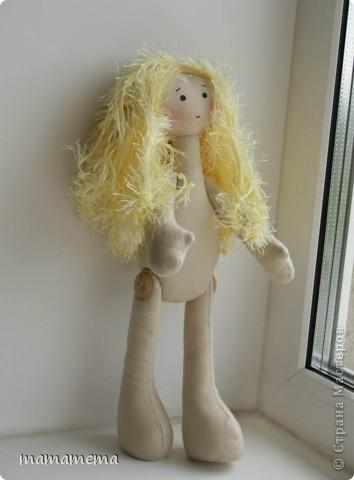 Давно, ну просто очень давно хотела я сшить такую куклу! Выкройку нашла совсем недавно, а тут Ольга Запонова объявила совместный пошив, и я решилась. Вот такая получилась не Снежка, а Солнышка (домашнего питомца одолжили для фотосессии у новой хозяйки куклы-моей дочки))) фото 8