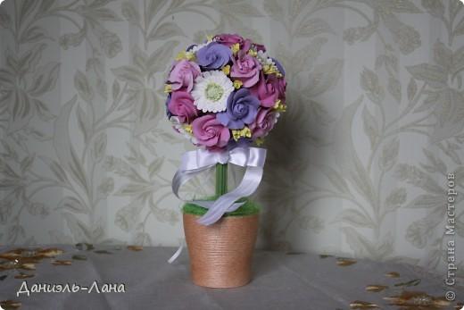 Топиарий(розы.герберы) фото 1