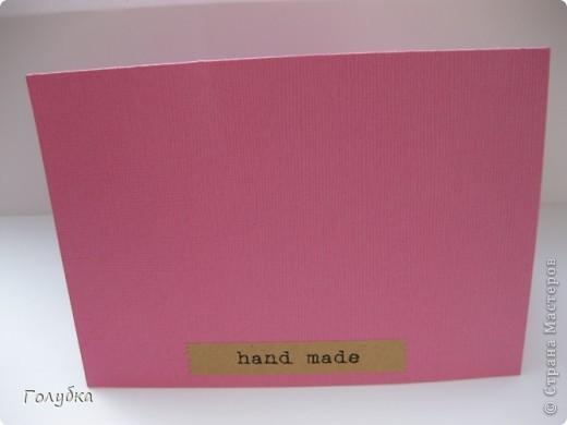 """Card Making... Увлекло меня тон в тон:)))) Здесь я использовала теплый розовый цвет основы, в таком же цвете штамп, а подложка средний розовый... Если ориентироваться на таблицу оттенков:) Полетело это """"Спасибо"""" ОЧЕНЬ интересному человеку:) фото 5"""