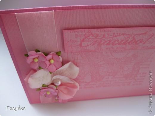 """Card Making... Увлекло меня тон в тон:)))) Здесь я использовала теплый розовый цвет основы, в таком же цвете штамп, а подложка средний розовый... Если ориентироваться на таблицу оттенков:) Полетело это """"Спасибо"""" ОЧЕНЬ интересному человеку:) фото 3"""