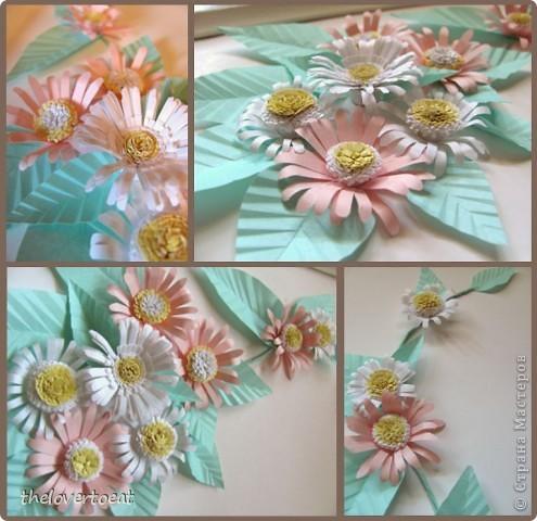 Это мой первый опыт создания цветов из бумаги) Он имел место быть около года назад. Решила поделиться) Цветочки крупным планом фото 1