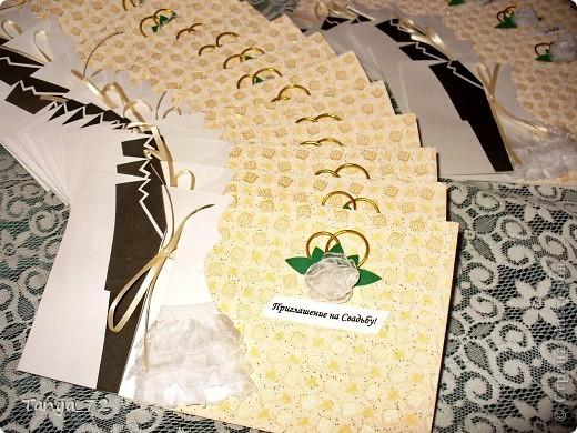 Цветовое решение свадьбы бело-золотое. Всё сделано моими руками. фото 3